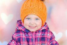 Детские вязаные шапочки / Зимнии шапочки, теплые детские шапочки