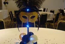 Masquerade decorações