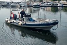 "Our boat / Our Boat - ""The Auslander""   The boat is a Joker, Category B Offshore RIB – 200 HP.  Equiped with: GPS, Sonar, VHF, Divers First Aid, Oxygen, Safety equipment, Cylinder racks, Dive ladder – etc.  All for scuba diving Tenerife, Canary Islands @ Atlantic ocean"