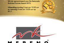 Nationale Business Succes Award 2015 / Mereno is genomineerd voor de Nationale Business Succes Award 2015!  Als ambitieuze keukenproducent van unieke en exclusieve maatwerk keukens zijn wij uitgeroepen tot branchewinnaar in de keuken(meubel)branche!