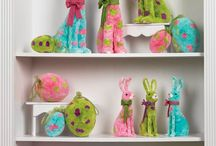 RAZ Easter Decorations / Collection of whimsical Easter decorations from RAZ, available at http://www.trendytree.com Paper Bunnies, Chocolate Bunnies, Easter Eggs, Baskets and more!