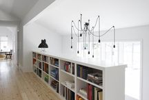 Bookcase & stairs & closet