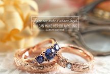 Barocco Full - Weding Ring / Handcrafted, unique wedding rings and engagement rings with brilliants and blue sapphires.