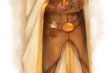 Sun priestess larp costume