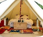 "Glamping / Glamour's camping - luxury camping a la Bedouin, hunting or Karen Blixen's story ""Mit Afrika"" filmed as ""Out of Africa"""