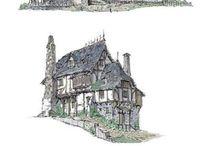 fantasy architecture artwork