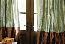 Bordered Custom Drapes by DrapeStyle / Linen and linen, silk and silk, linen and silk-you choose your combination, the design possibilities are endless!