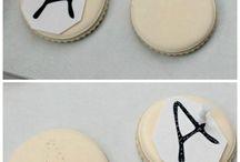 stencil em bolachas
