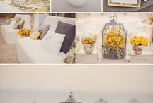 WEDDING INSPIRATION : SPRING WEDDING / YELLOW & GREY