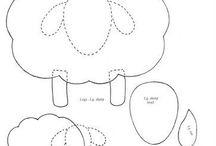 šití z plstě - nákresy