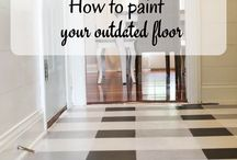Flooring Ideas / Flooring ideas, cheap tile, wood, laminate, LVT, tiling, DIY, budget, cement tiles, stencil floor, paint floors, paint tile, floor maintenance