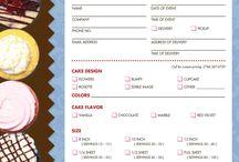 Cake Order Forms & Pricing
