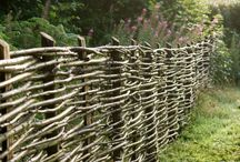 Fences...Don't Fence me in / Can't do it....a barrier, railing, or other upright structure, typically of wood or wire, enclosing an area of ground to mark a boundary, control access, or prevent escape.