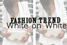 White on White Style / White on White Style // http://www.missesdressy.com/blog/all-white-fashion-a-look-at-springs-freshest-color-trend.html