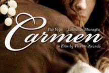 Carmen 2003 / Based on the novel by Prosper Merimee, CARMEN is the classic tale of forbidden passion between a young man (Leonardo Sbaraglia) and a spoken-for woman, Carmen (Paz Vega). It is told in flashback as the young soldier, stripped of his decorations, explains all in a prison cell. He tells of the love he had for Carmen and how it proved to be destructive.   / by GREAT MUSICAL'S