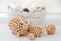 KORÁLKY DŘEVĚNÉ - Beads - wooden