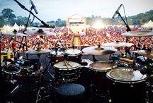 Drum setup of Yose Kristian / In Djinggo Indonesia Tour 2014, with Iwan Fals & Band. #Music #Indonesia #YoseKristian | twitter : @yosekristian12