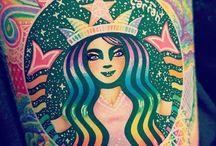 Starbucks cups art