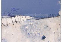 abstrakte  blau