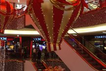 New Year Preparation in Shopping Mall TerraCity in Antalya / New Year Preparations in Antalya. Best Shopping Mall in Antalya. Terra City