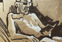my work Reading in midday sun #drawing #ink #doodle #sketch #france