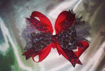 Pink Magnolia's Bowtique / Handmade bows made by me! For sale! I love custom orders! Email me a. Pinkmagnoliasbowtique@yahoo.com / by Melissa Parker