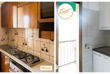 Ristrutturare una cucina piccola / Avete una cucina piccola e non sapete dove riporre la dispensa? L'obiettivo è ottimizzare lo spazio. Possiamo cercare di sfruttare tutto lo spazio disponibile alle pareti utilizzando pensili e mensole e collocando nei ripiani più alti gli oggetti che utilizzi di meno,  si può optare anche per gli elementi  angolari. Prediligete i colori chiari che daranno più luminosità alla stanza Se avete la possibilità di farlo, installate una porta scorrevole in questo modo avrete più spazio per muovervi.