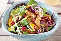 Gesunde Sachen und Salate