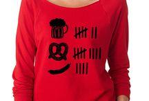SignatureTshirts Red Beer Graphic Raglan Tee