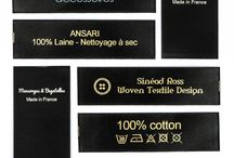 Standard Printed Labels / Standard printed labels can be designed using your own text and a symbol of your choice.