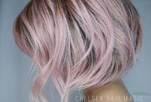 grey pink hair