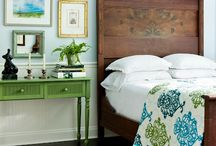 BLUE/GREEN BEDROOM / by Lisa Dickner-Goulet, Interior Decorator