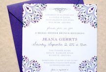 Bridal Shower Invitations / by Whimsy B. Designs
