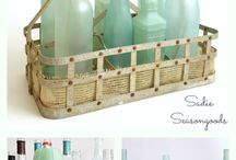 glass/wine bottles craft ideas