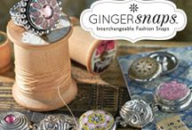 """Gingersnaps Jewelry - Timeworn Treasures / Ginger Snaps™ is a spirited new collection of interchangeable jewelry featuring """"fashion snaps,"""" button-like charms you snap in and out of our specially made jewelry and accessories. Ginger Snaps is all about heart and soul, sweetness and sass, and brazen individuality. Choose from many different styles of jewelry & accessories such as necklaces, bracelets, stretch rings, scarf charms, handbags & more! Also choose from a wide selection of snaps. There is something for everyone!"""