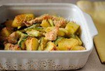 Straccettidi pollo patate e zucchine