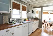 vintage-style kitchen / Instead of modernizing your kitchen, why not vintage-ize it? With a few decorating additions, your kitchen can look kitschy-cute, not outdated. / by Kirsten Hudson