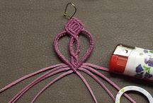 Macramotiv macrame DIY tutorials / Macramotiv micro-macrame knotted jewellery instructions, photo tutorials, how to make knotted earrings, bracelets, Christmas angels, migramah DIY