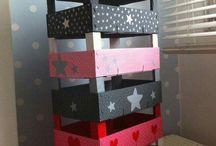 cajas estantes