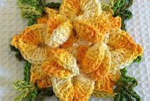 Flor estrela em crochet