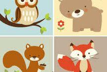 animais da floresta infantil