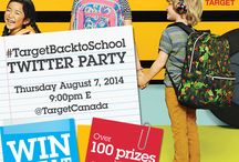 #TargetBacktoSchool / Back-to-School Twitter Party with Target Canada on August 7, 2014 at 9:00pm E. Canada Only