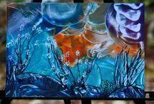 Encaustic Malerei / Momentan macht es einfach süchtig sich mit dieser Form der Malerei zu beschäftigen. Inspiration ohne Ende.