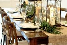 Rustic Holiday Decor / Down home holiday decor for your rustic cabin-y feel!