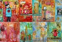 Art Journal / Mixed Media Inspiratie / Inspiratie voor Art Journaling of Mixed Media projecten