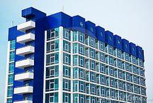 geometrische architectuur / geometrische gebouwen