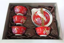 Red Gaiwan Oolong Tea Set
