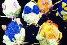 Pasqua / Elementi uncinetto per la casa durante le festività pasquali