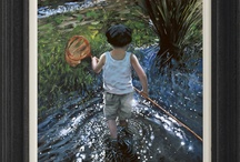 Keith Proctor / An established figurative artist, Keith Proctor brings the nostalgia of flat caps and boots back to life, with his paintings of young children.