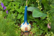 painting on  gourds ( my work )